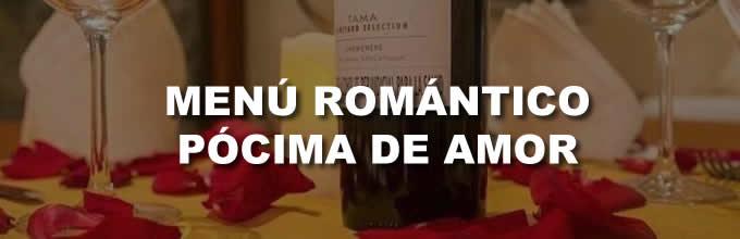 Menú Romántico Pocima de Amor con Paseo en Coche